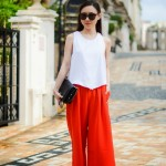 WIFEY OFF DUTY outfit cropped wide leg pants